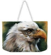 Leather Eagle Weekender Tote Bag