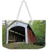 Leatherwood Station Covered Bridge Indiana Weekender Tote Bag