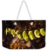 Leaves All In A Row Weekender Tote Bag