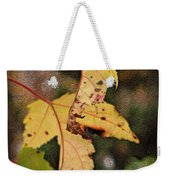 Leaves And Autumn Weekender Tote Bag