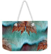 Leaves And Rain 6 Weekender Tote Bag