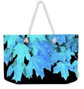Leaves In Blue Weekender Tote Bag