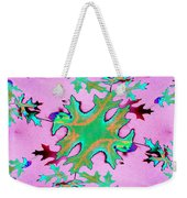 Leaves In Fractal Weekender Tote Bag