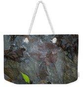 Leaves In Ice At Upper Creek Falls Weekender Tote Bag