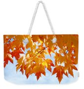 Leaves Nature Art Orange Autumn Tree Leaves Weekender Tote Bag