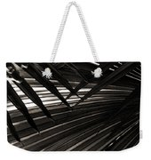 Leaves Of Palm Black And White Weekender Tote Bag