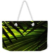 Leaves Of Palm Color Weekender Tote Bag