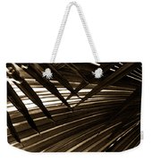 Leaves Of Palm Sepia Weekender Tote Bag