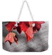 Leaves Of Red Weekender Tote Bag