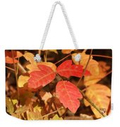 Leaves Of Three Weekender Tote Bag