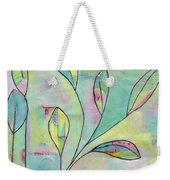 Leaves On Abstract Background Weekender Tote Bag