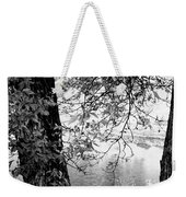 Leaves Over The River Weekender Tote Bag