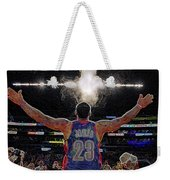 Lebron James Chalk Toss Basketball Art Landscape Painting Weekender Tote Bag