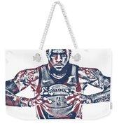 Lebron James Cleveland Cavaliers Pixel Art 54 Weekender Tote Bag
