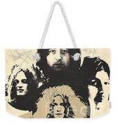 Led Zeppelin Autographed Album  Weekender Tote Bag
