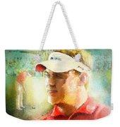 Lee Westwood Winning The Portugal Masters 2009 Weekender Tote Bag