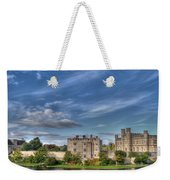 Leeds Castle And Moat Rear View Weekender Tote Bag