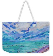 Left Panel Of Triptych Busy Relaxing Weekender Tote Bag