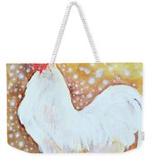 Leghorn Rooster Do The Funky Chicken Weekender Tote Bag