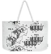 Lego Toy Building Brick Patent Weekender Tote Bag