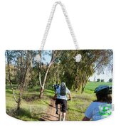 Leisure Cross Contry Cyclists Weekender Tote Bag