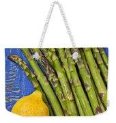 Lemon And Asparagus  Weekender Tote Bag