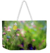 Lemon Butterfly In Summer Meadow  Weekender Tote Bag