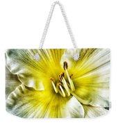 Lemon Cream Daylilly Weekender Tote Bag
