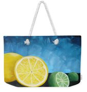 Lemon Lime Weekender Tote Bag