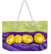 Lemon Party Weekender Tote Bag