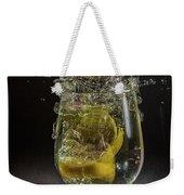 Lemon Spash Weekender Tote Bag