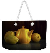 Lemon Yellow Weekender Tote Bag