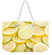 Lemons And Limes Abstract Weekender Tote Bag