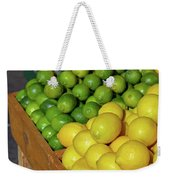 Lemons And Limes At Market Weekender Tote Bag