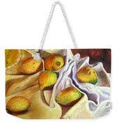 Lemons And Linen Weekender Tote Bag