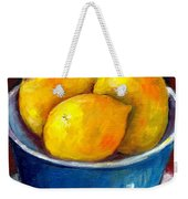 Lemons In A Blue Bowl Grace Venditti Montreal Art Weekender Tote Bag