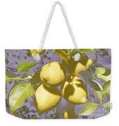 Lemons Purple Pastel Weekender Tote Bag