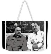 Lenin And Stalin Circa 1923 Color And Drawing Added 2016    Weekender Tote Bag