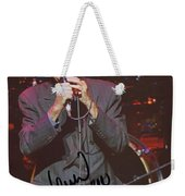 Leonard Cohen Autographed Weekender Tote Bag
