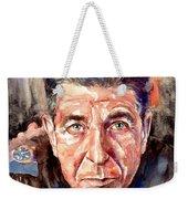 Leonard Cohen Painting Weekender Tote Bag