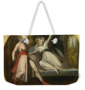 Leonore Discovering The Dagger Left By Alonzo Weekender Tote Bag