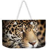 Leopard Face Weekender Tote Bag by John Wadleigh