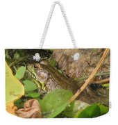 Leopard Frog Weekender Tote Bag