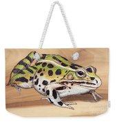 Leopard Frog No 1 Weekender Tote Bag