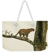 Leopard In A Sal Tree Weekender Tote Bag