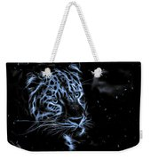 Leopard In The Darkness.  Weekender Tote Bag