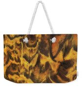 Leopard In The Sand Weekender Tote Bag