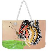 Leopard Lacewing Butterfly #2 V2 Weekender Tote Bag