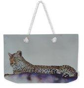 Leopard On Rock Weekender Tote Bag