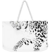 Leopard Spots Black And White Weekender Tote Bag